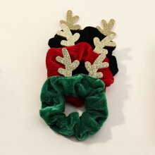 3pcs Christmas Antlers Scrunchie