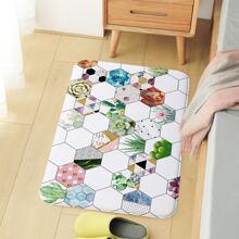 Plant Print Floor Mat