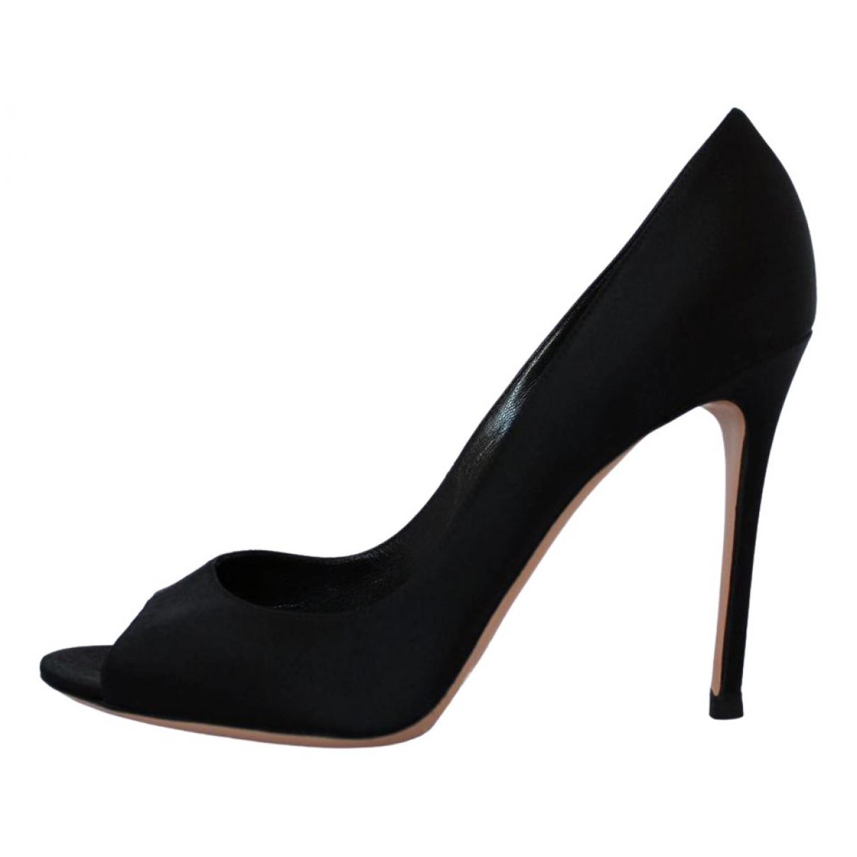 Gianvito Rossi - Sandales   pour femme en toile - noir