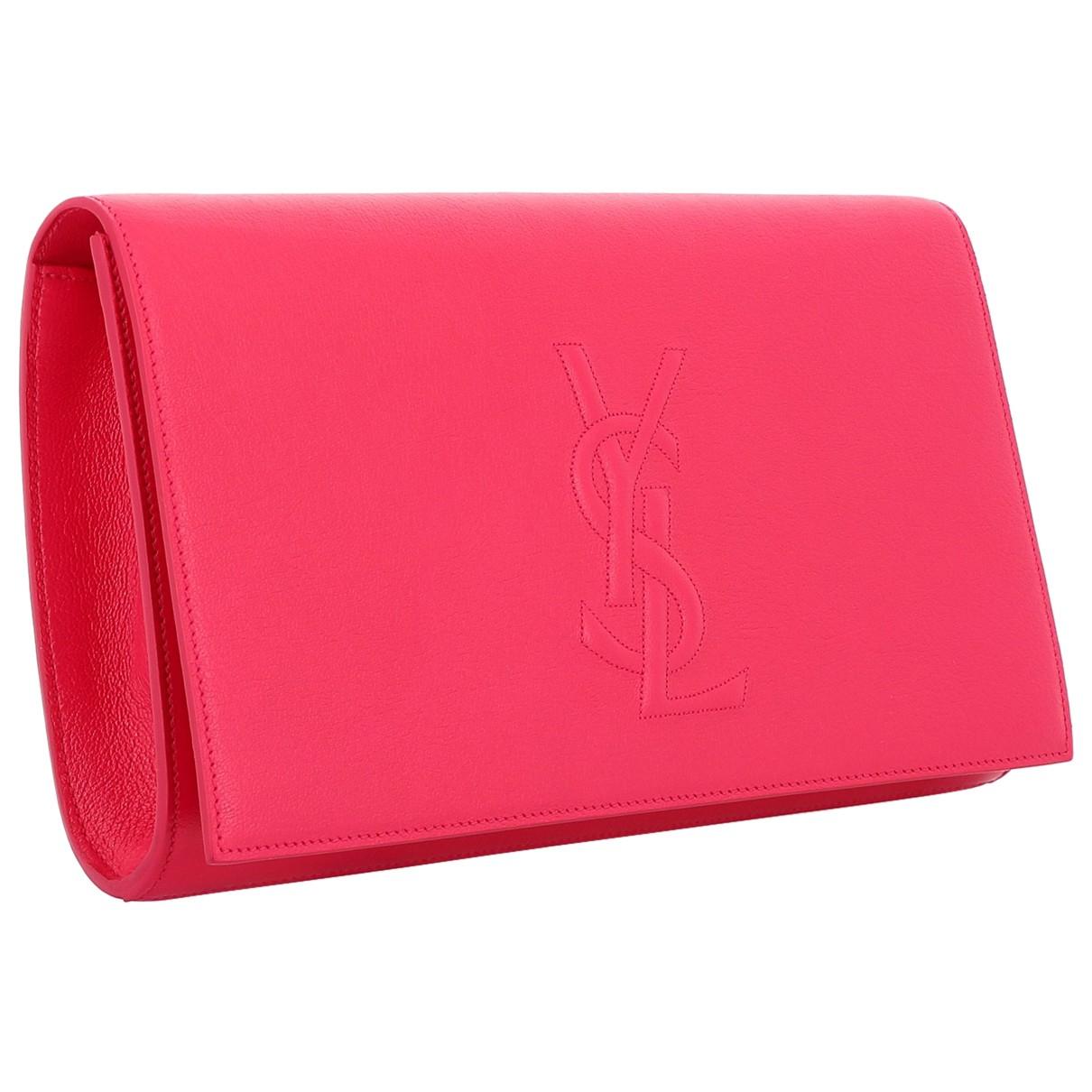 Yves Saint Laurent - Pochette Belle de Jour pour femme en cuir - rouge