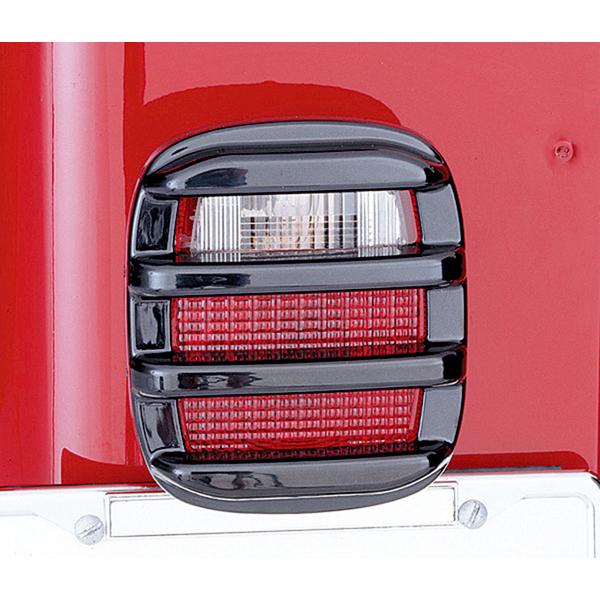 Rugged Ridge 11354.02 Light Cover Kit, Tail Light, Smoke; 76-06 Jeep CJ/Wrangler YJ/TJ Jeep