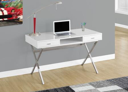 I 7211 48 Computer Desk with Criss Cross Legs  Modern Design and Two Storage Drawers in