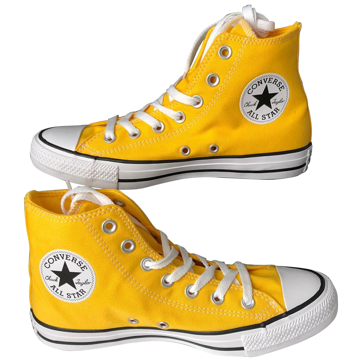 Converse N Yellow Cloth Trainers for Women 38 EU