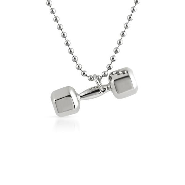 3D Shiny Dumbbell Weight Pendant Crossfit