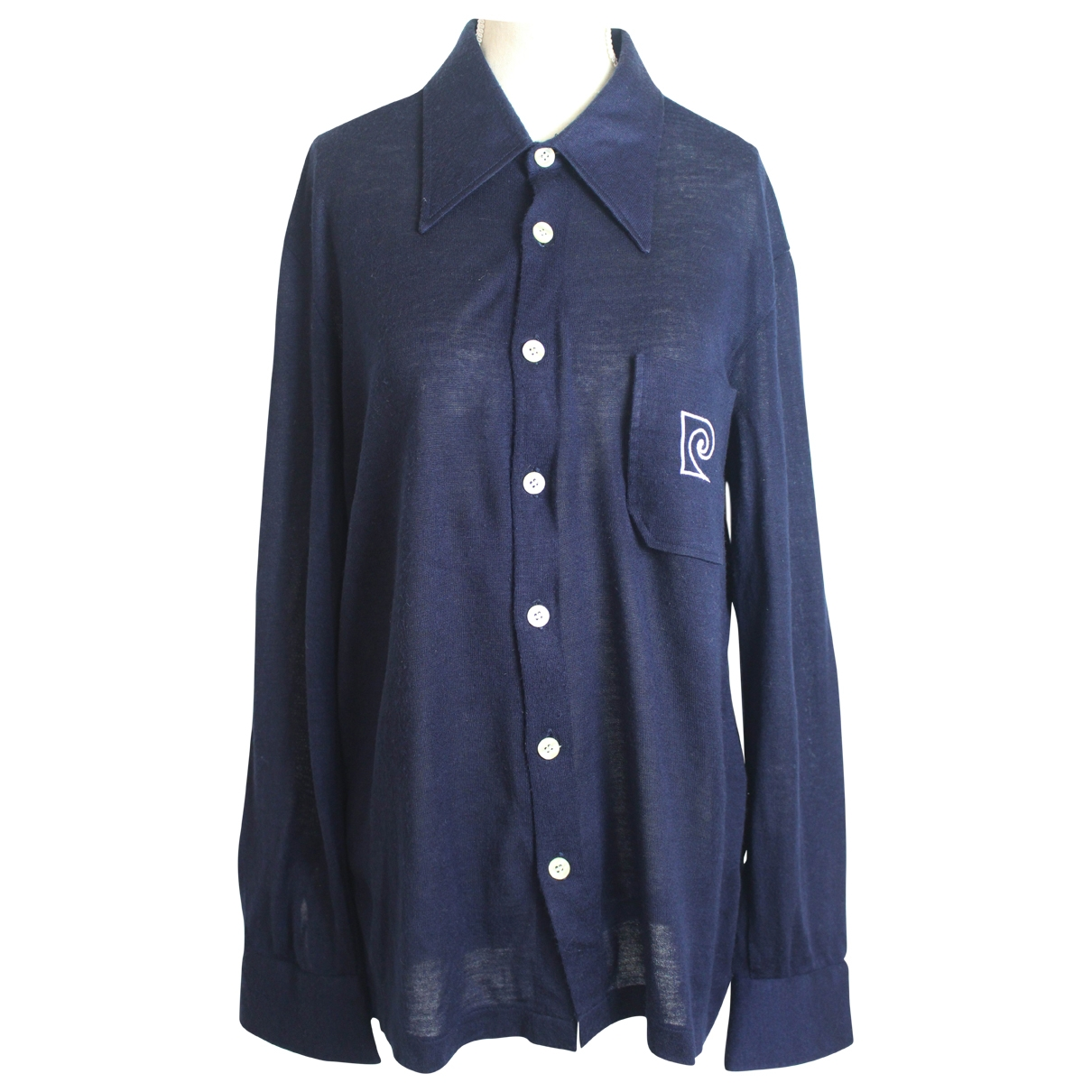 Pierre Cardin - Chemises   pour homme en coton - marine