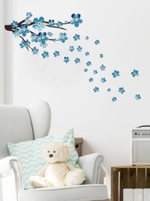 Plum Blossom Print Wall Sticker