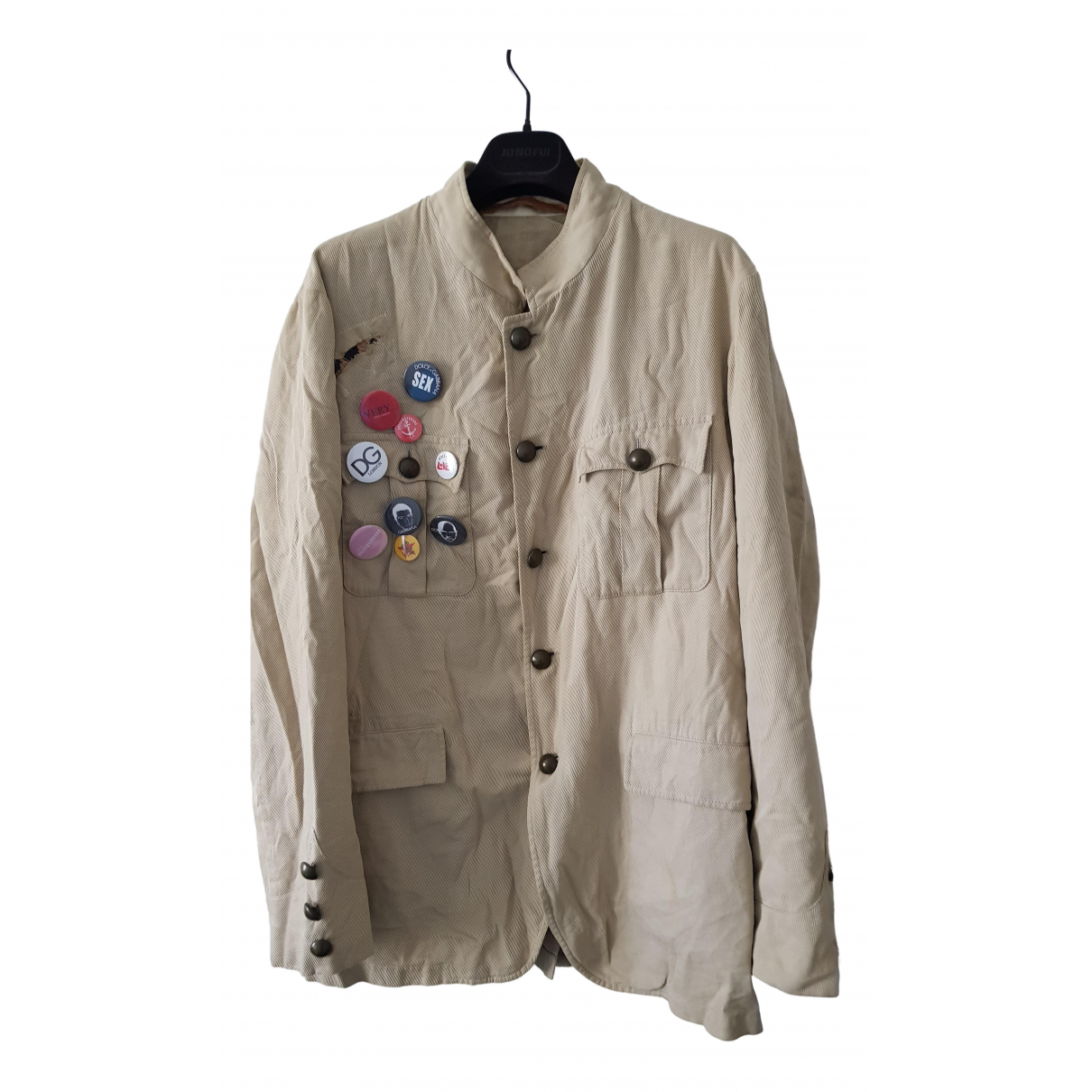 Dolce & Gabbana - Vestes.Blousons   pour homme en coton - beige