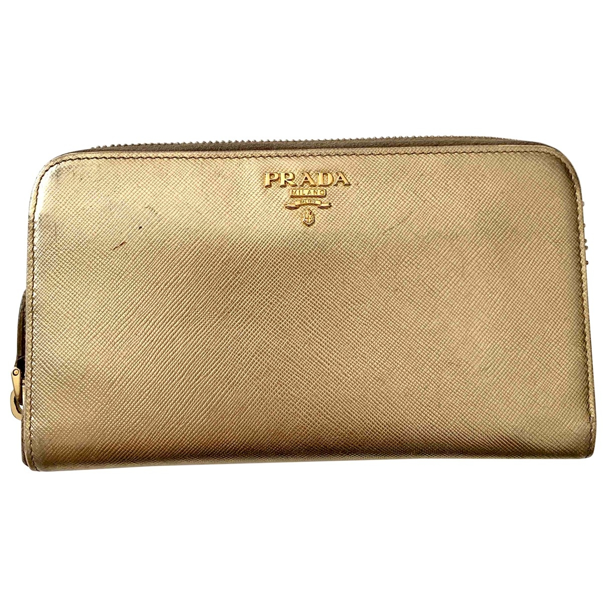Prada \N Gold Leather wallet for Women \N