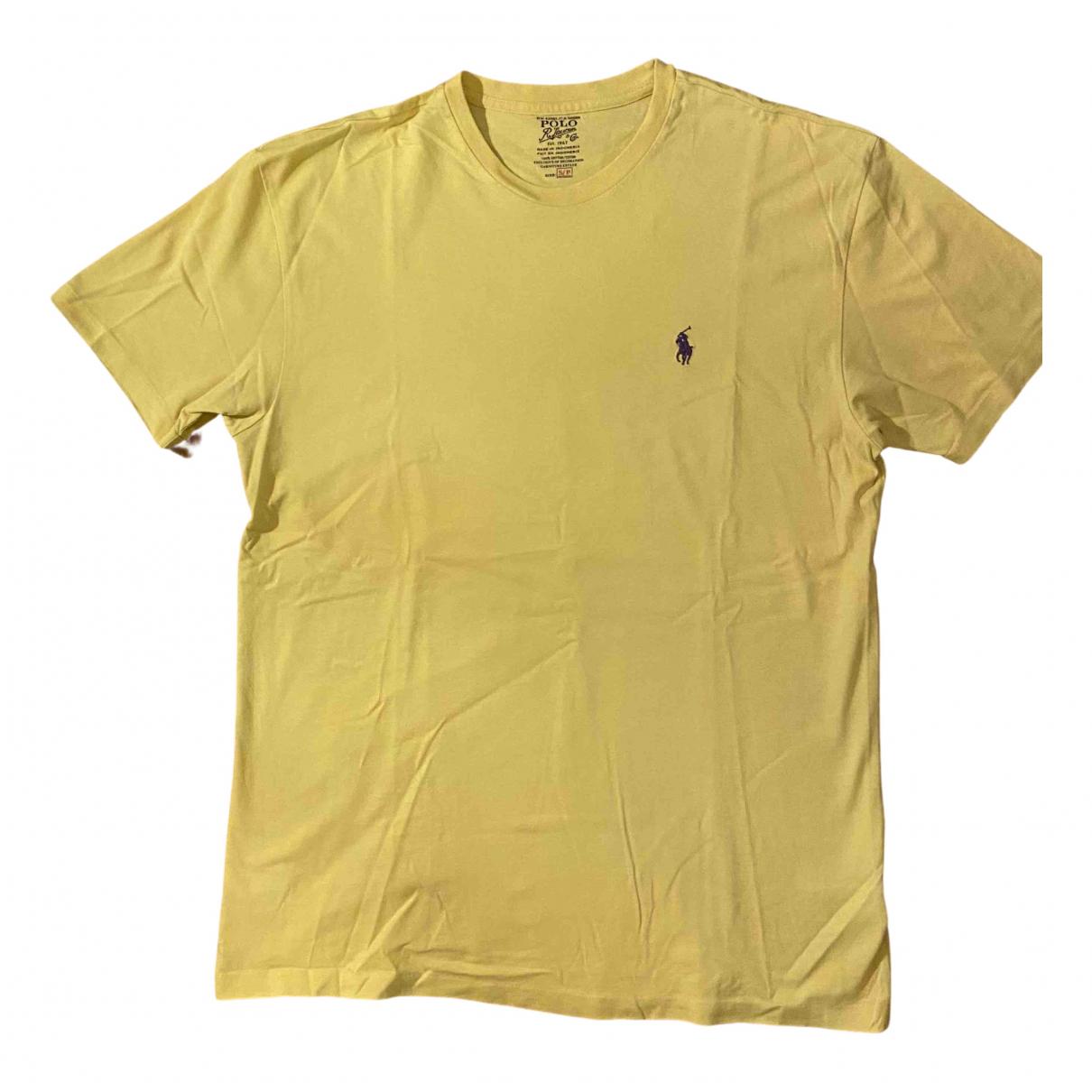 Polo Ralph Lauren - Tee shirts   pour homme en coton - jaune