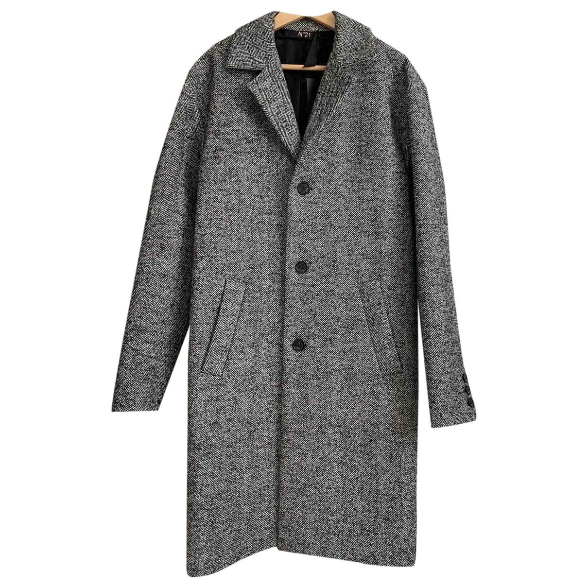N°21 \N Grey Wool coat  for Men 46 IT