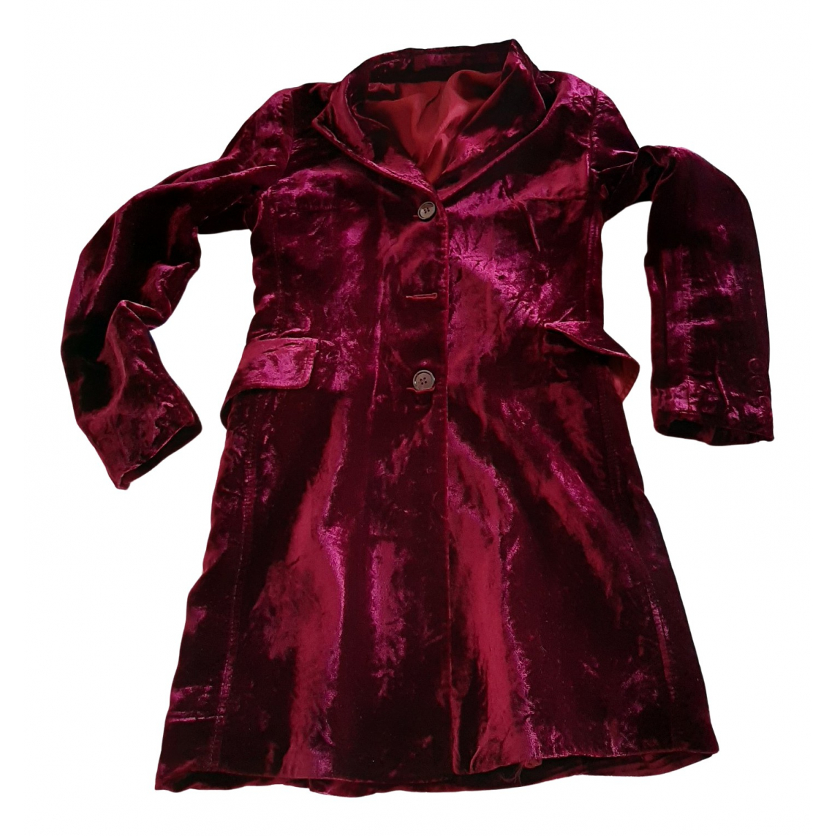 Non Signé / Unsigned \N Burgundy Velvet jacket for Women S International