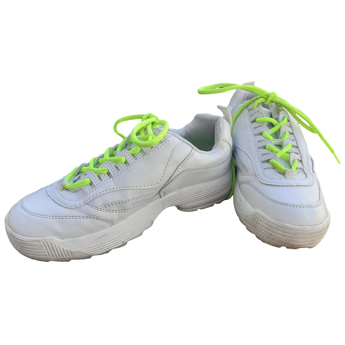 Non Signé / Unsigned \N White Trainers for Women 38 EU