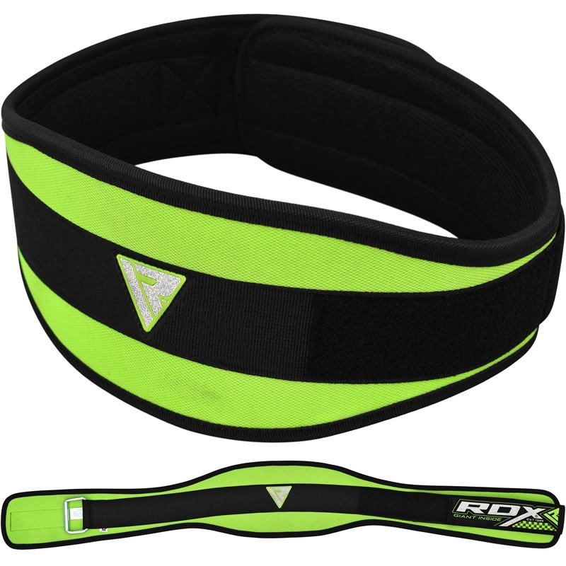 RDX 9C Neoprene Gym Weightlifting Belt 6 Inch Extra Large Green/Black
