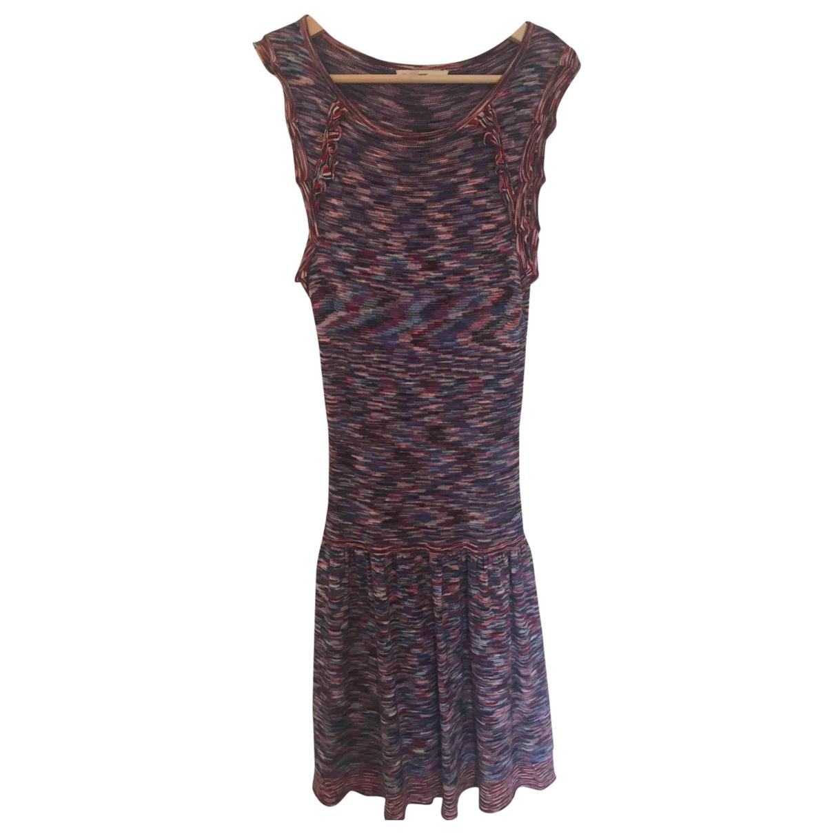 Maje \N Multicolour Cotton - elasthane dress for Women 1 0-5