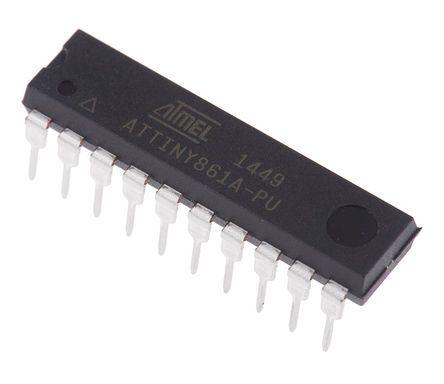 Microchip ATTINY861A-PU, 8bit AVR Microcontroller, AVR, 20MHz, 8 kB Flash, 20-Pin PDIP (5)