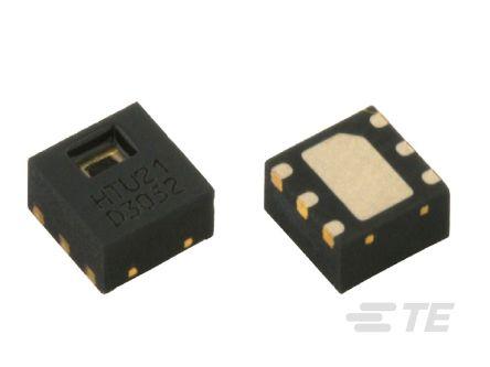 TE Connectivity HPP845E031R4, Temperature and Humidity Sensor -40 → +125 °C ±0.3 °C, ±2 %RH I2C, 6-Pin DFN (400)