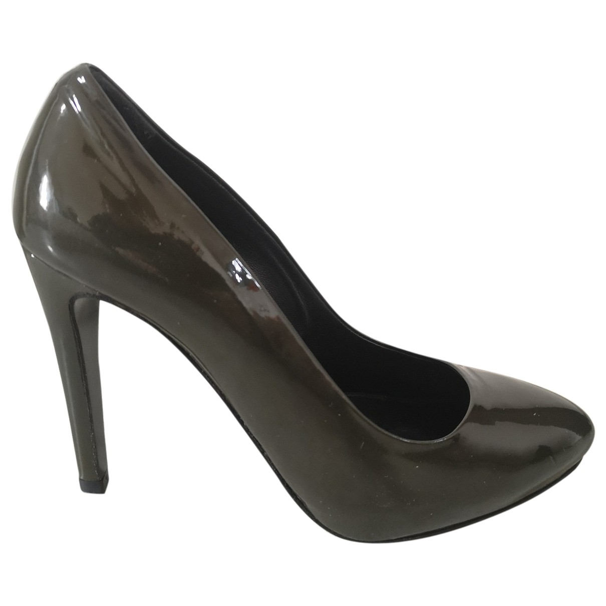 Non Signé / Unsigned \N Green Patent leather Heels for Women 37.5 EU