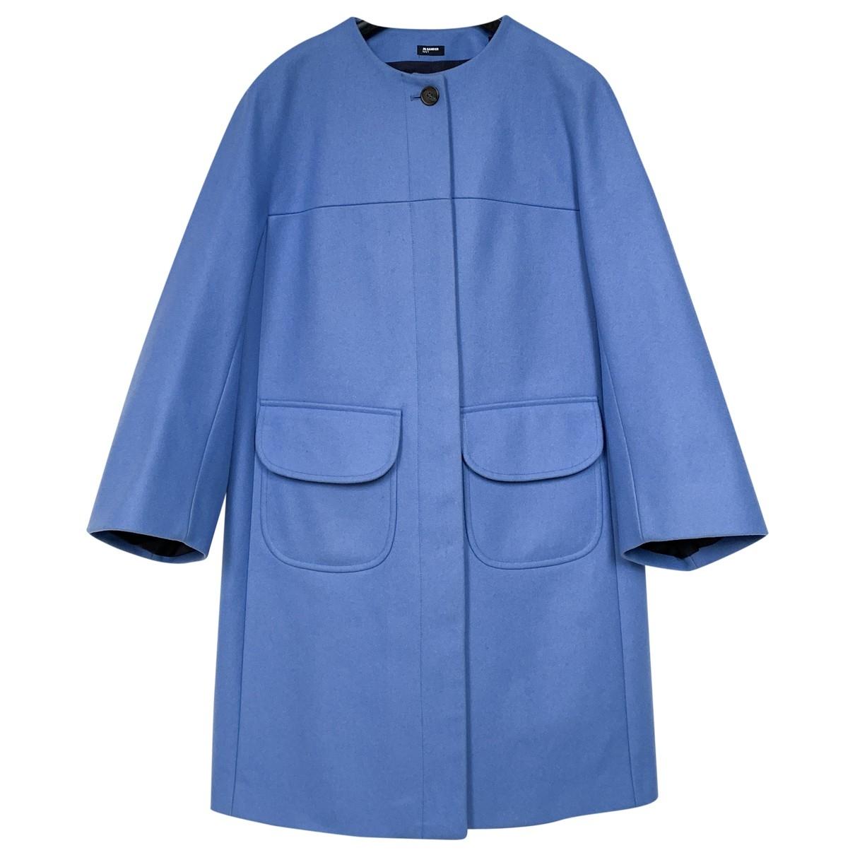 Jil Sander \N Maentel in  Blau Wolle