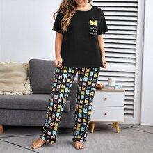 Pijamas de Talla Grande Dibujos animados Dulce