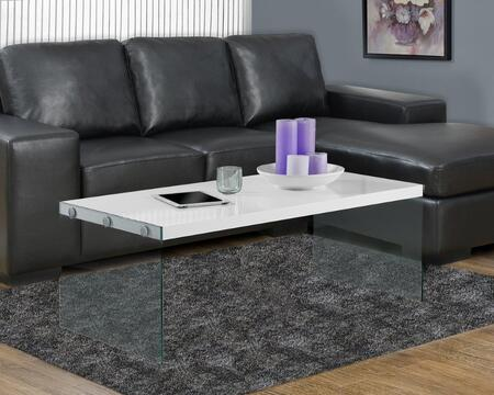 I 3286 Coffee Table - Glossy White with Tempered