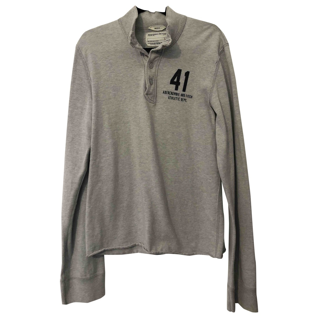 Abercrombie & Fitch \N Grey Cotton T-shirts for Men L International