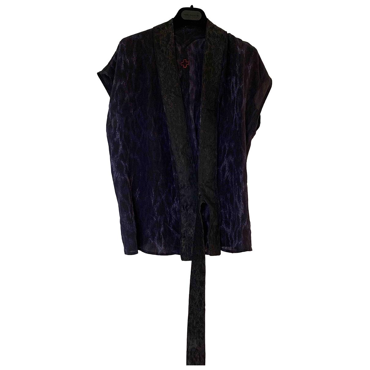 Af Vandevorst - Top   pour femme en soie - bleu