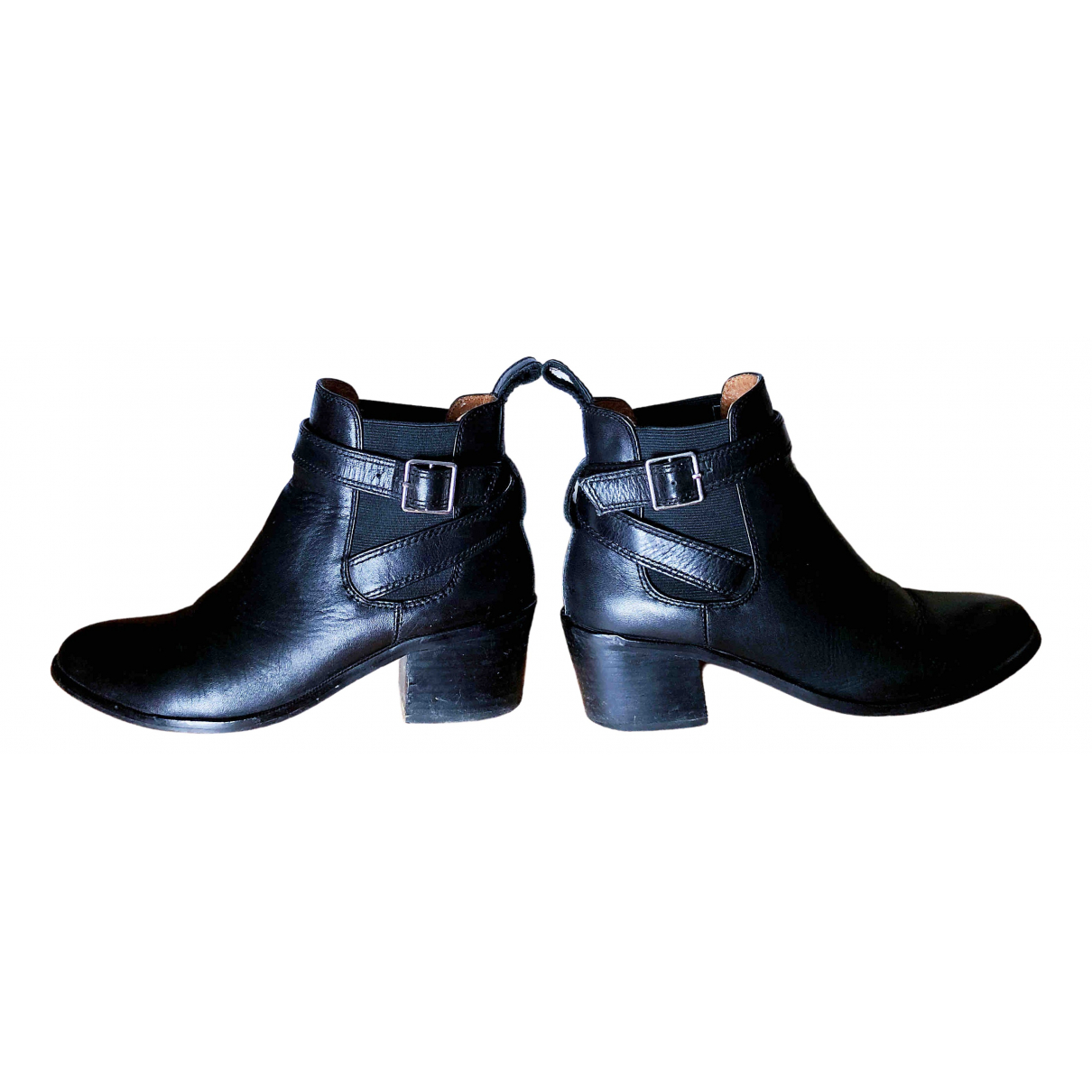 Bimba Y Lola \N Black Leather Boots for Women 36 EU