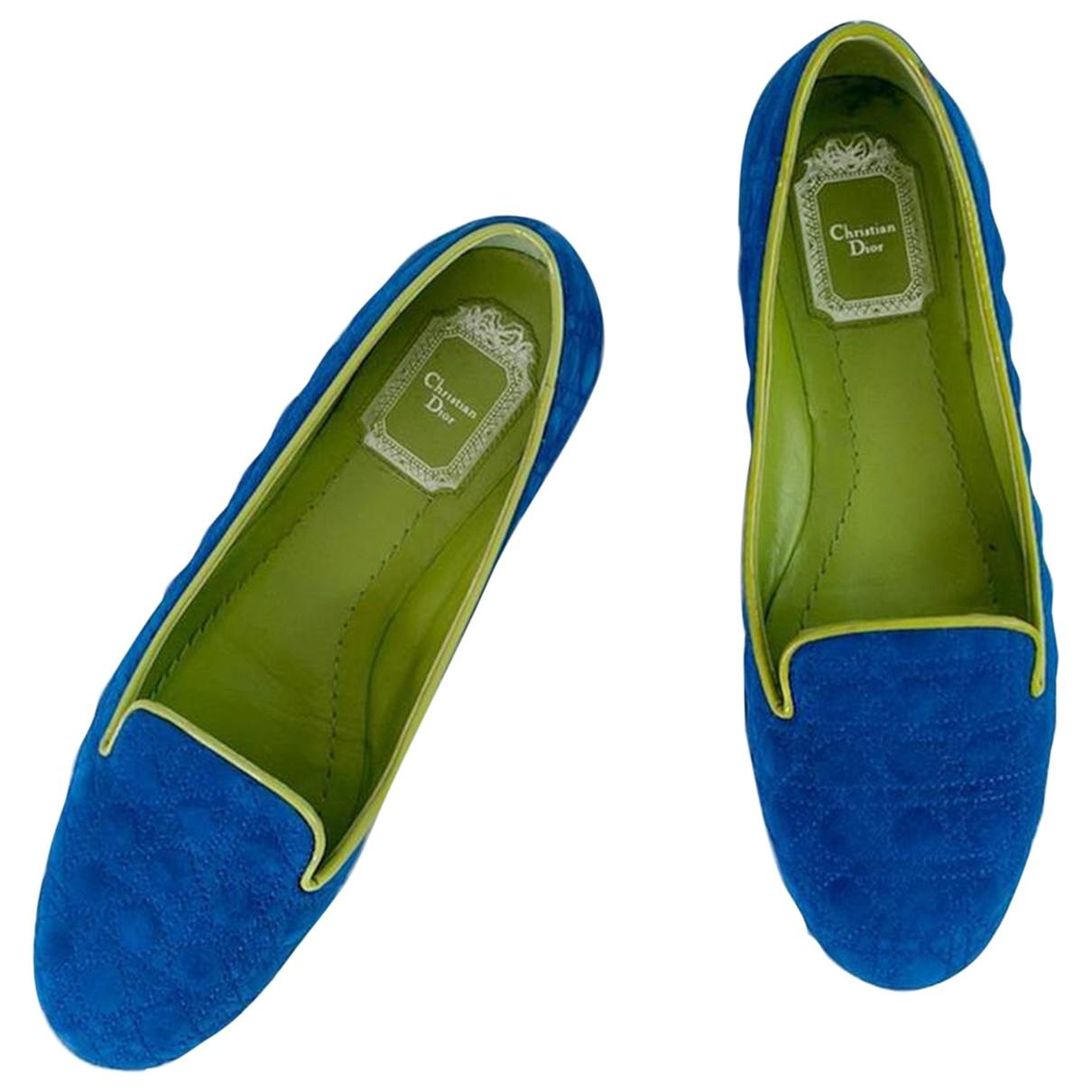 Dior \N Espadrilles in  Blau Veloursleder