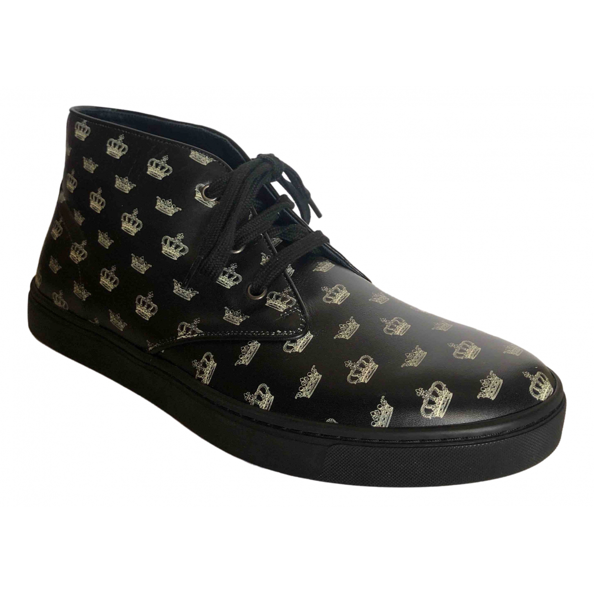 Dolce & Gabbana \N Black Leather Boots for Men 8 UK
