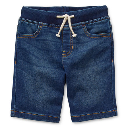 Okie Dokie Toddler Boys Denim Short, 2t , Blue