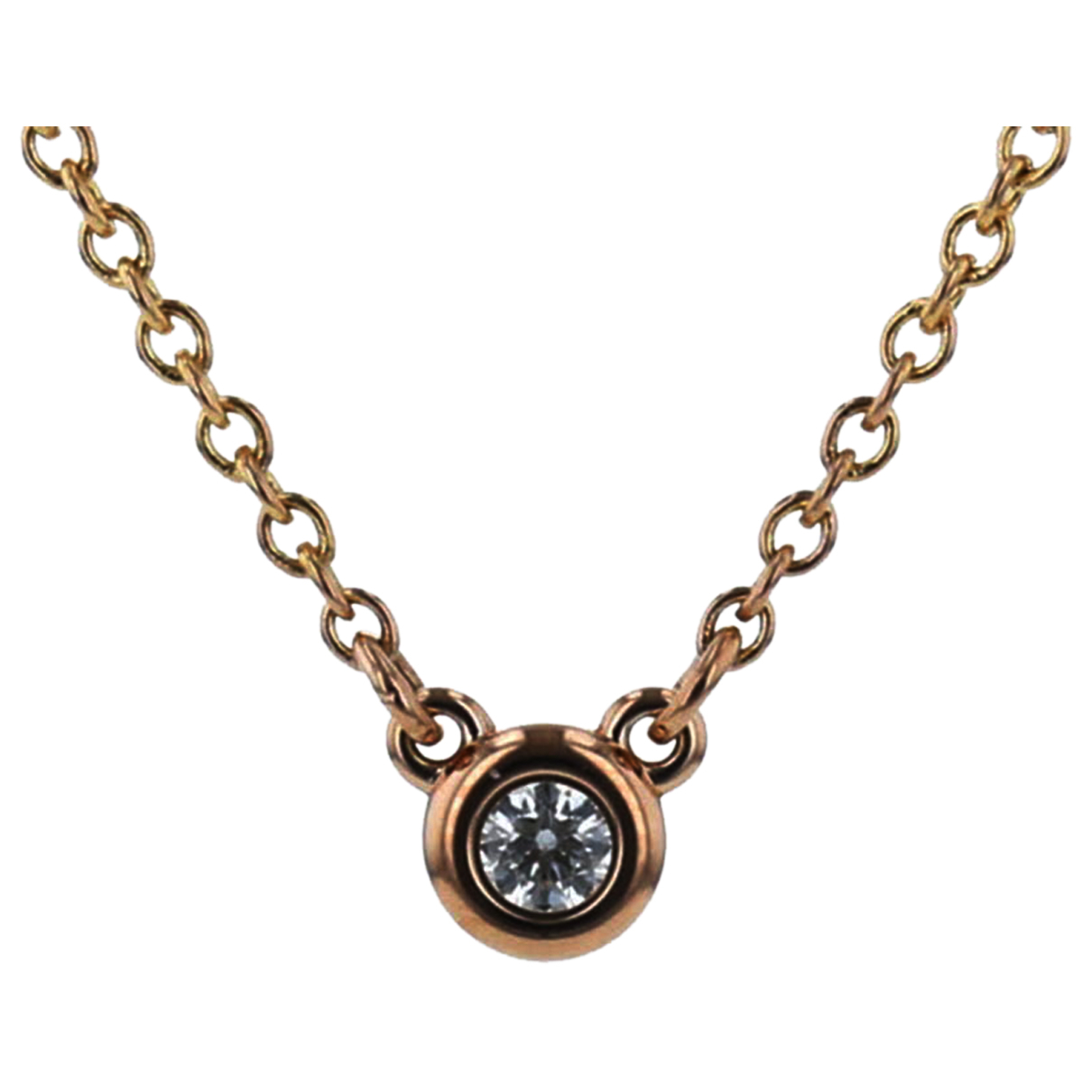 Tiffany & Co N Pink gold necklace for Women N