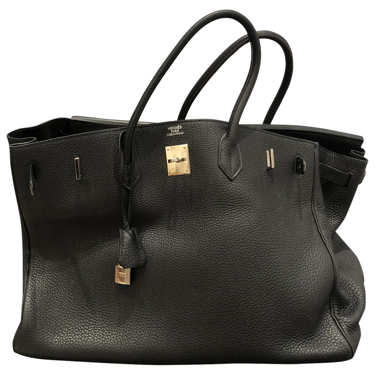 Hermès Birkin 40 Black Leather handbag for Women \N