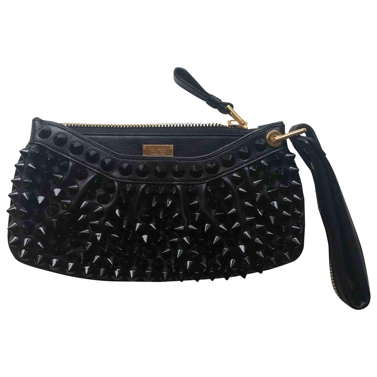 Tom Ford \N Clutch in  Schwarz Leder