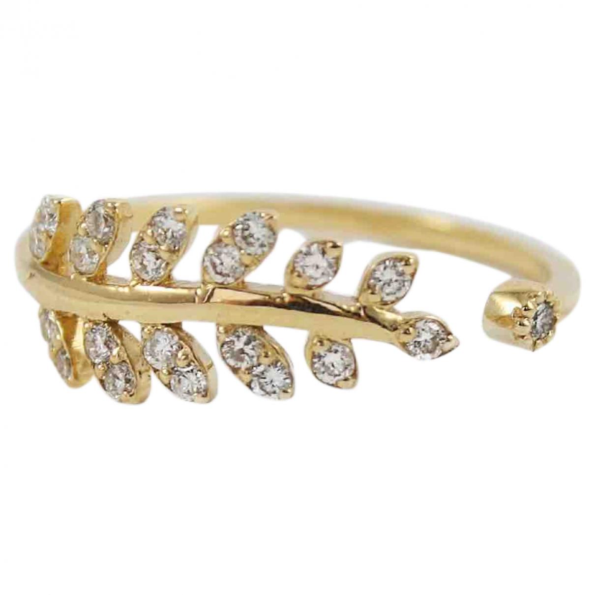 - Bague Motifs Floraux pour femme en or jaune - dore