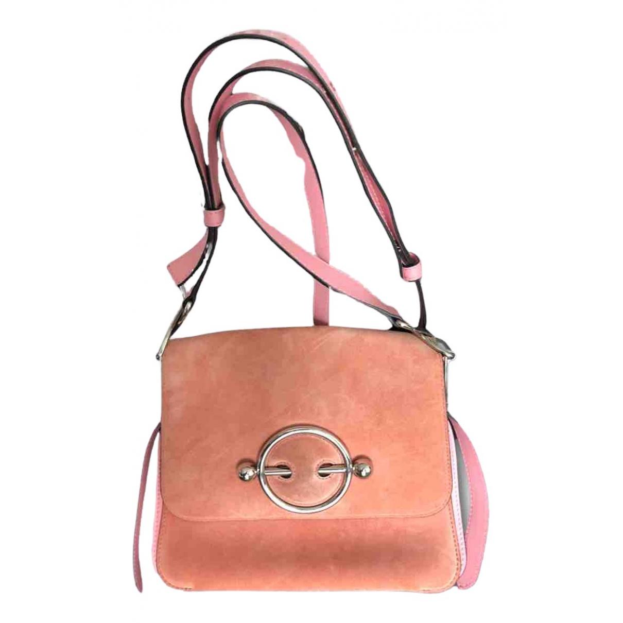 J.w. Anderson Pierce Pink Suede handbag for Women \N