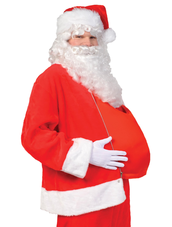 Kostuemzubehor Bauch Weihnachtsmann rot