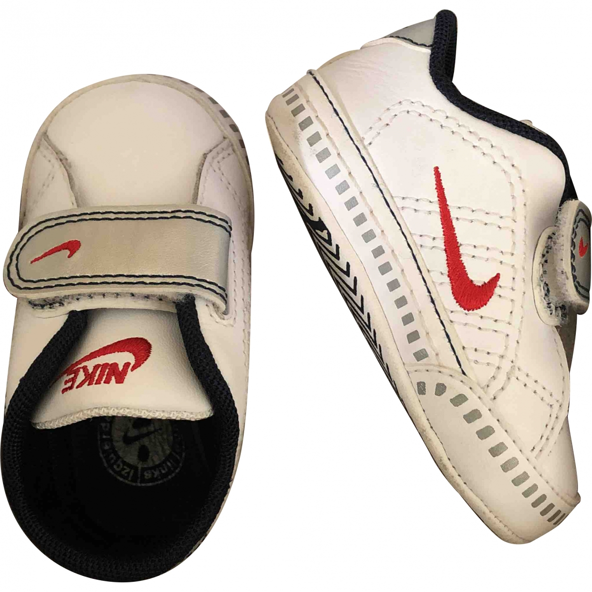 Nike \N White Leather Trainers for Kids 17 EU