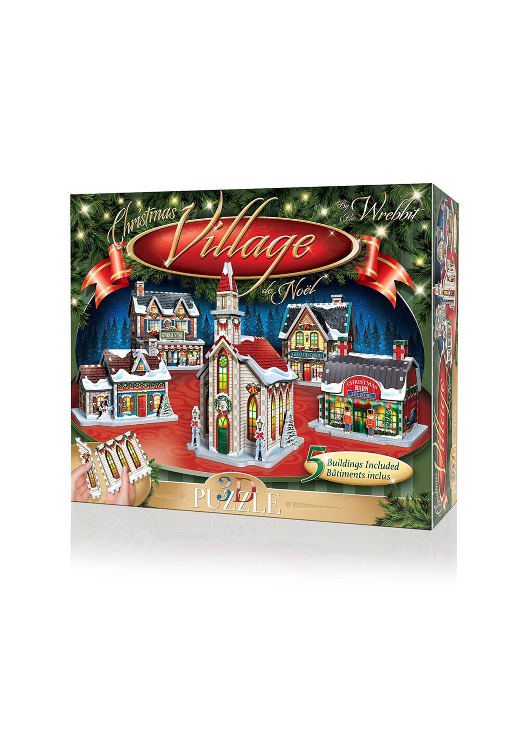 5 Building Collection- Christmas Village 3D Jigsaw Puzzle