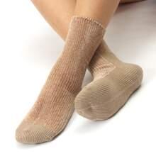 Einfarbige warme Socken