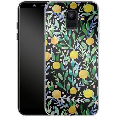 Samsung Galaxy A6 Silikon Handyhuelle - Bright Blossoms von Iisa Monttinen