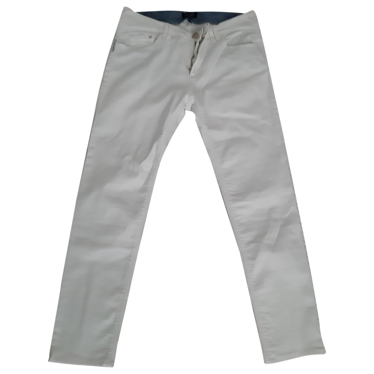 Armani Jeans \N White Cotton Jeans for Women 30 US