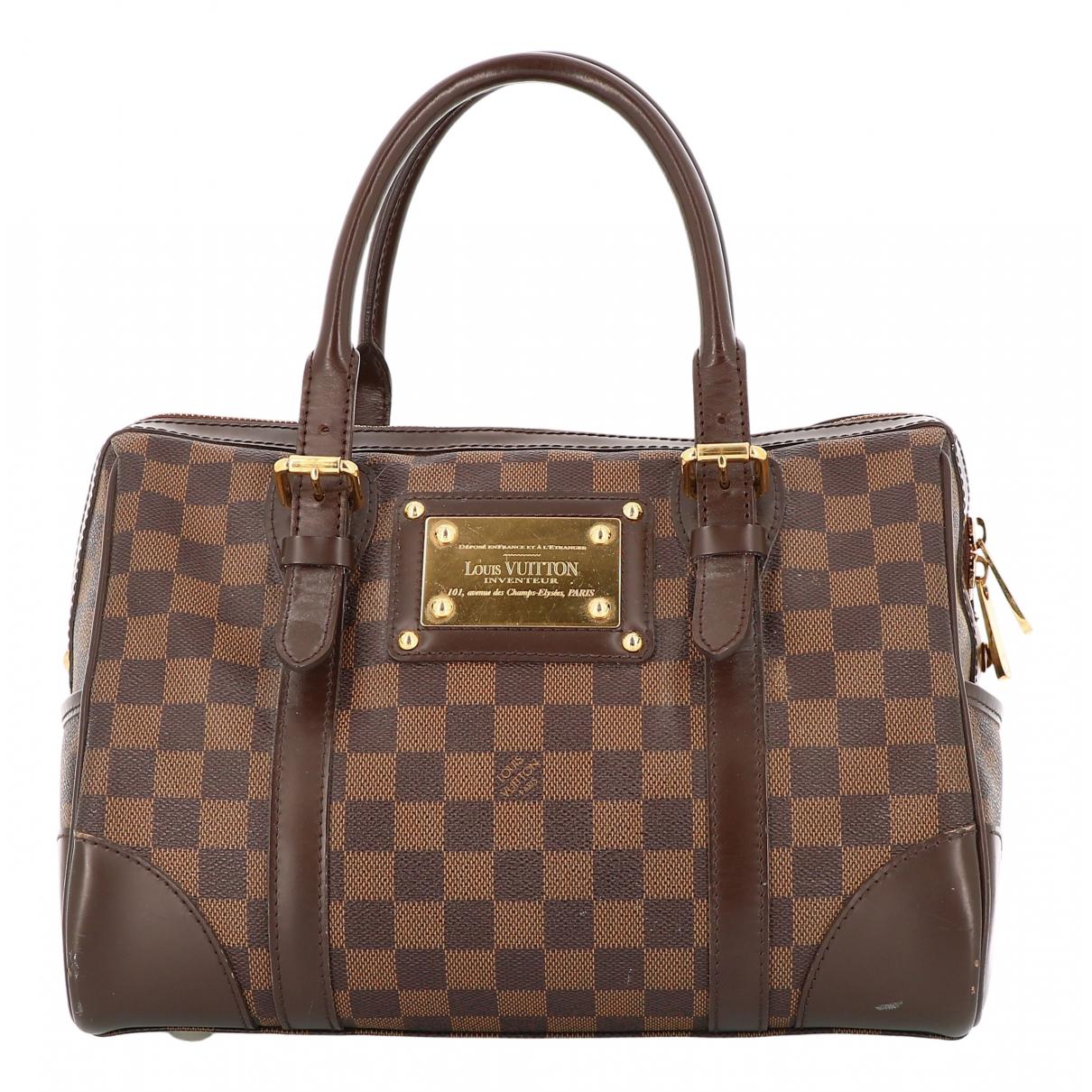 Louis Vuitton - Sac a main Berkeley pour femme en toile - marron