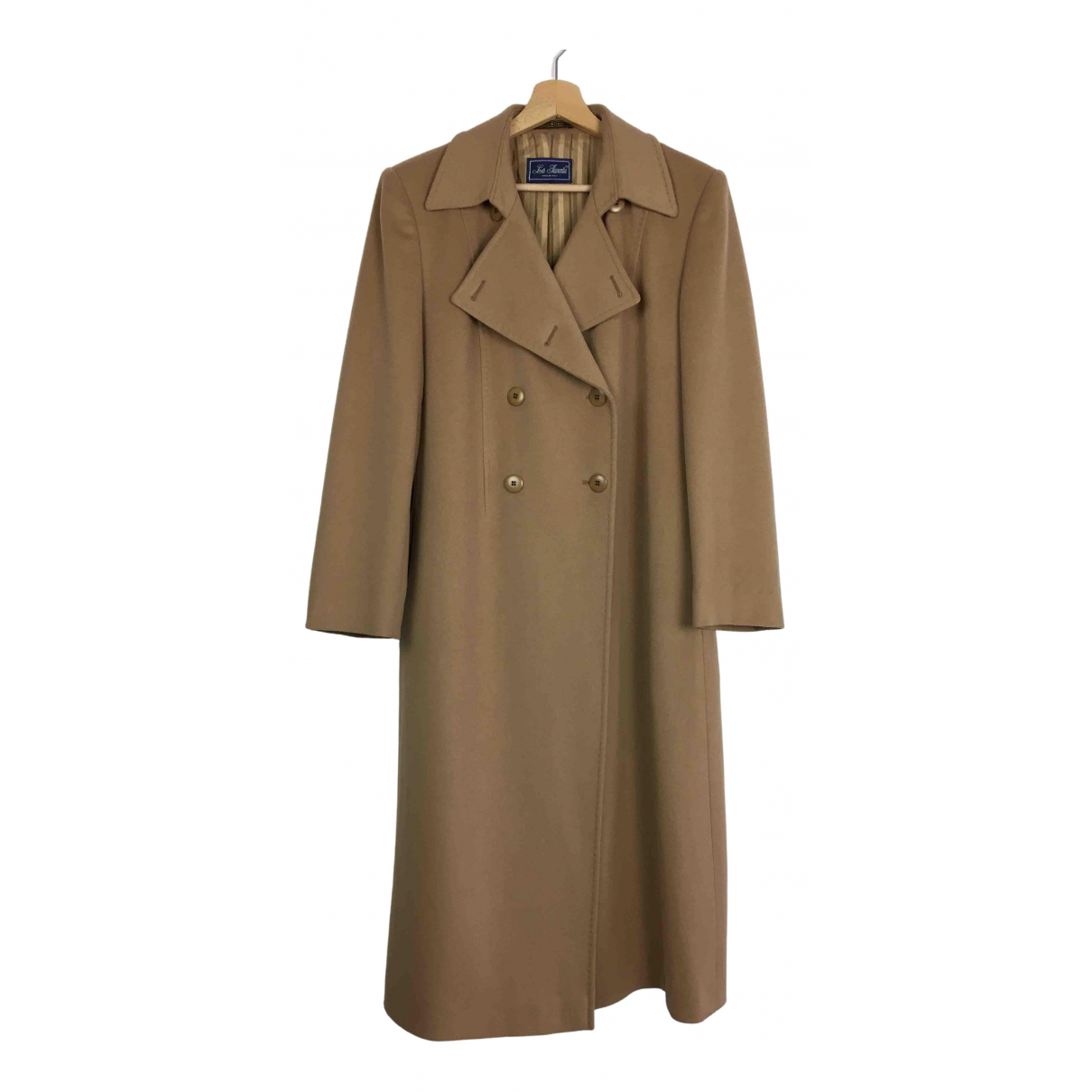 Non Signé / Unsigned N Camel Wool coat for Women 48 IT