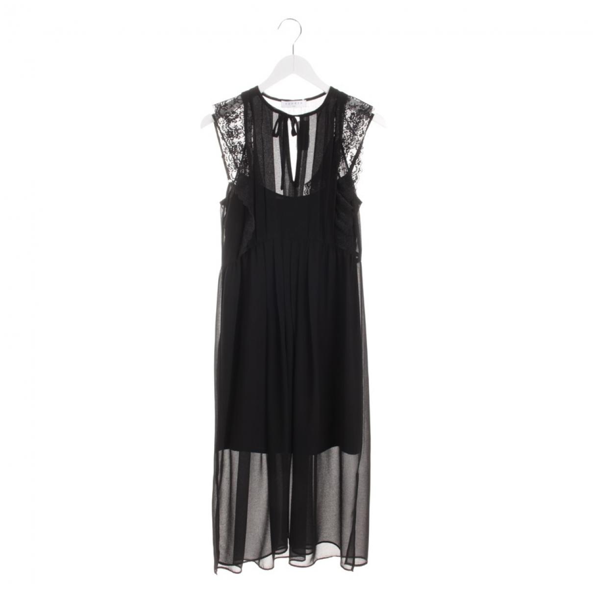 Sandro \N Black Cotton dress for Women 34 FR