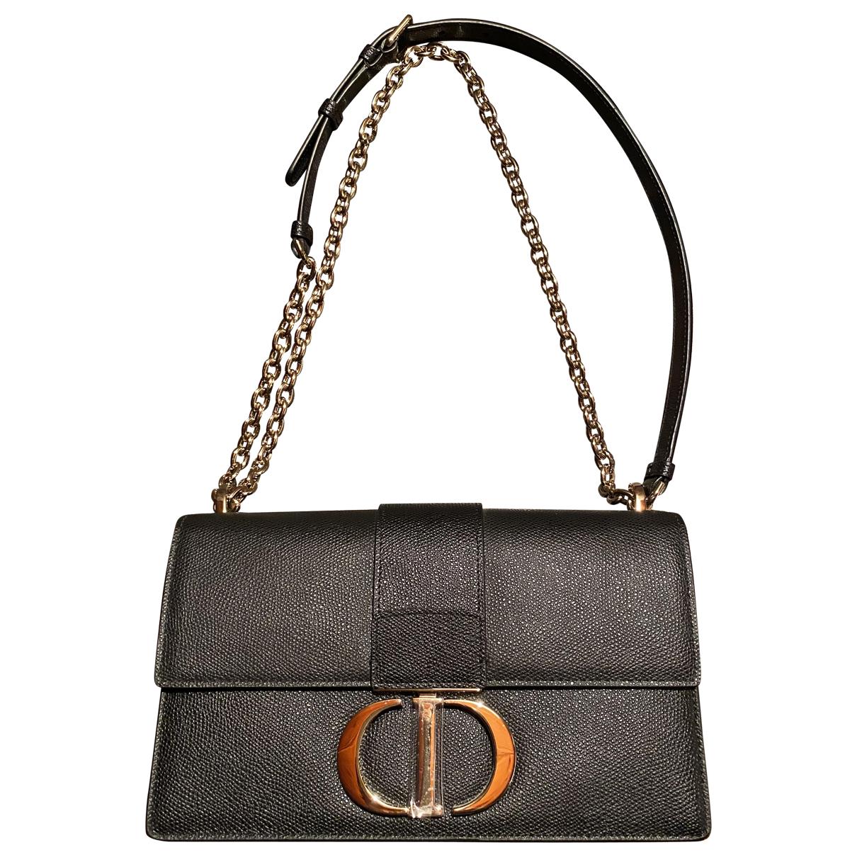 Dior 30 Montaigne Handtasche in  Schwarz Leder