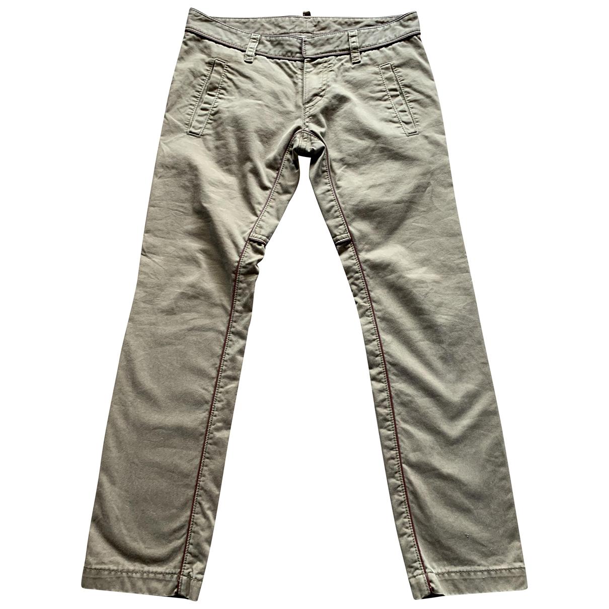 Dsquared2 N Beige Cotton Trousers for Men 48 IT