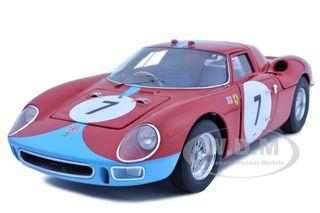 Ferrari 250 LM 12 Hours of Reims 1964 7 Elite Edition 1/18 Diecast Car Model by Hotwheels
