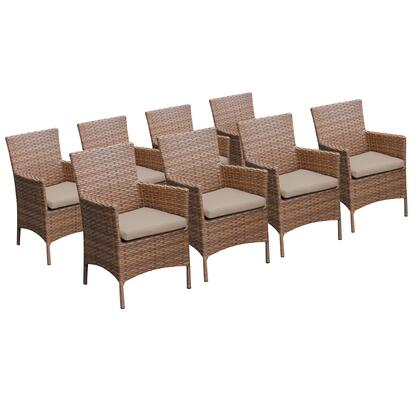 TKC093b-DC-4x 8 Laguna Dining Chairs With Arms with 1 Cover in