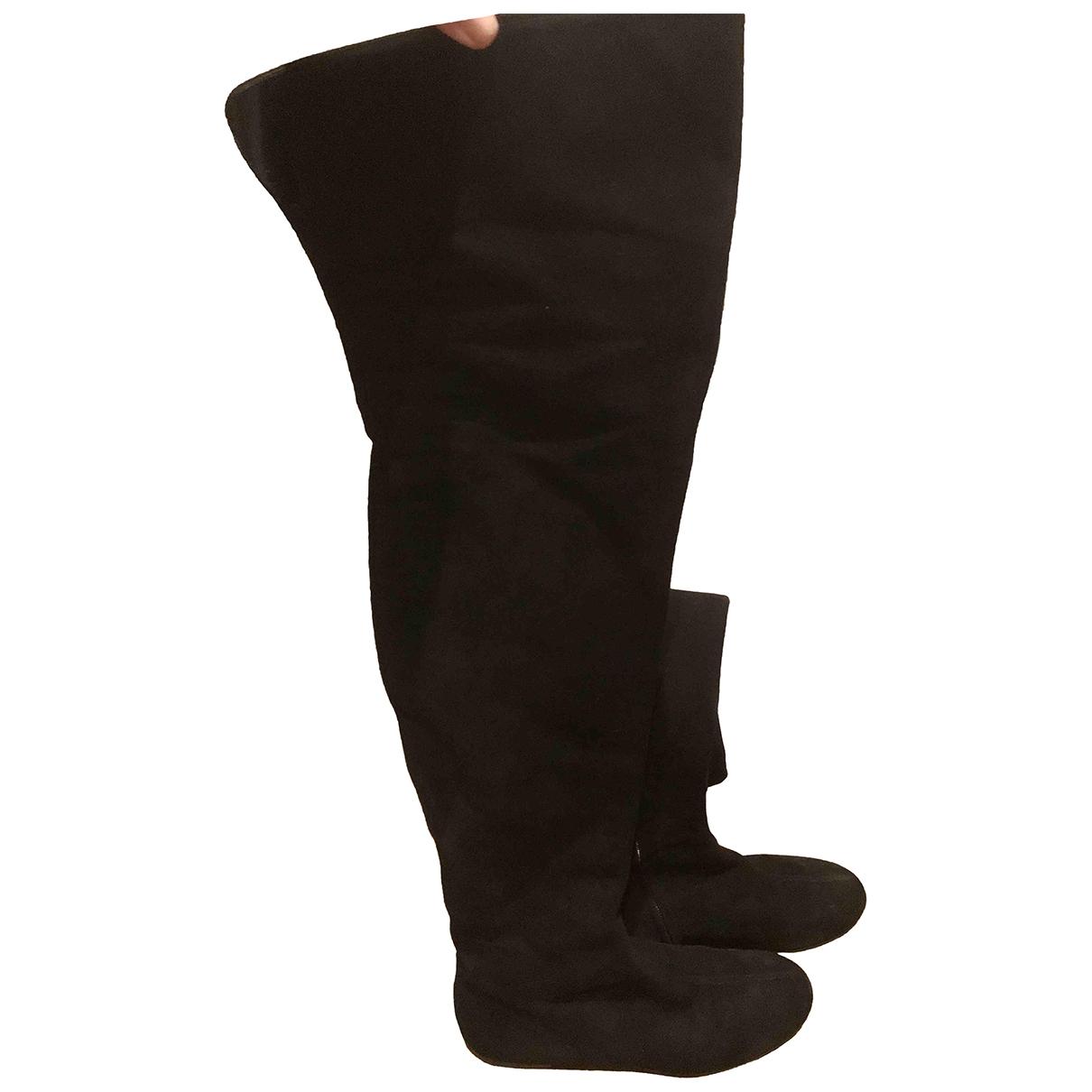 Giuseppe Zanotti \N Black Suede Boots for Women 37 EU