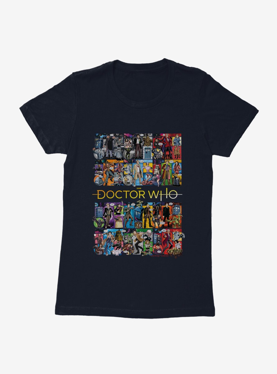 Doctor Who Doctor Collage Womens T-Shirt